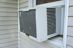 Window Air Conitioner Keeping Things Cool Stock Photos