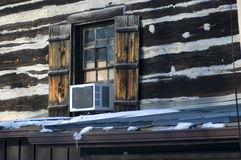 Window and airconditioner Royalty Free Stock Photo