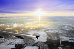 Window aircraft view. Royalty Free Stock Image
