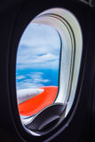Window airplane Royalty Free Stock Images