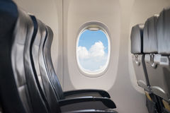 Window in airplane Royalty Free Stock Photo