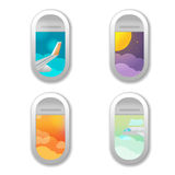 Window Airplane Different View Background Vector Stock Photography