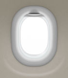 Window of airplane isolated with clipping path Stock Photography