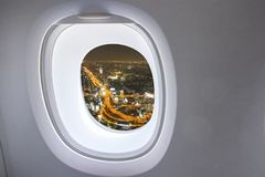 Window from airplane stock images
