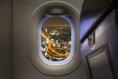 Window from airplane stock photos