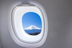 Window from airplane royalty free stock images