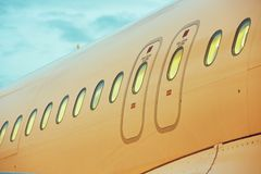 Window of the airplane Royalty Free Stock Photography