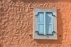 Window in Alacati. Estate, creativity, Ä°zmir Turkey. Mediterranean style street and house in Alacati, Izmir, Turkey royalty free stock image