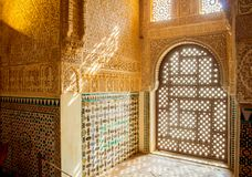 Window in the Alhambra Palace in Granada. Spain,Andalusia Royalty Free Stock Photography