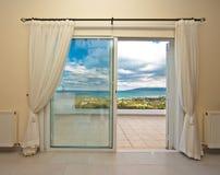 Window with ammaising viuw Stock Photo