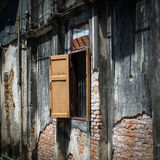 Window at ancient building, Songkhla Thailand. Window at ancient building, Old Town in Songkhla Thailand Royalty Free Stock Photo