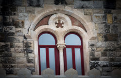 Window in an ancient castle. tinted.  Royalty Free Stock Image