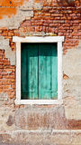 Window and ancient decay wall Royalty Free Stock Photography