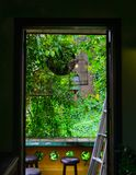 Window of ancient house in Hoi An, Vietnam royalty free stock images