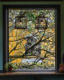 Window of ancient house in Hoi An, Vietnam royalty free stock photography