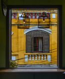 Window of ancient house in Hoi An, Vietnam stock images