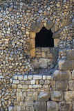 Window in Ancient Nimrod fortress Stock Image