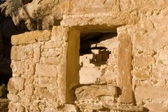 Window in ancient ruins. An ancient window in Mesa Verde ruins Stock Photography