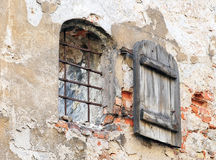 Window on ancient wall, Riga - Latvia Stock Images
