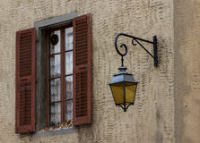 Window in Annecy. Window and lamp in Annecy, France Royalty Free Stock Photo