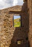 A window of an antique castle Stock Photos