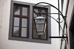 Window and antique lamp Stock Photo
