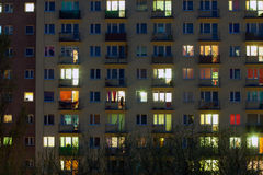 Window of an apartment block Stock Photography