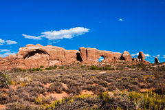 Window Arch in Arches National Park,Utah. Classic American Western Landscape in Arches National Park,Utah Stock Photography