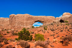 Window Arch in Arches National Park,Utah Stock Images