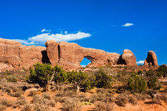 Window Arch in Arches National Park,Utah Royalty Free Stock Photography