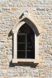 Window with an arch in the old town of Budva. Montenegro Royalty Free Stock Photography