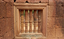 Window - architecture of khmer civilization. Stock Photography