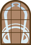 Window. In the Art Nouveau style. Vector illustration Royalty Free Stock Photos