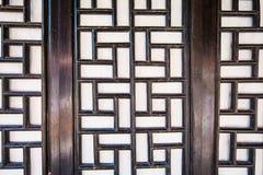 Window arts. Chinese traditional window arts wooden door Royalty Free Stock Photo