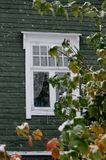 Window in autum royalty free stock photos