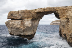 Window Azure on Mediterranean Sea on  Malta in windy conditions, Royalty Free Stock Images