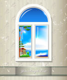 Window background. Royalty Free Stock Image