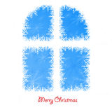 Window background of white winter snowflakes for christmas and n Stock Photos