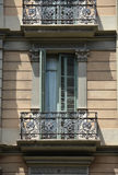 Window and balcony in Barcelona Royalty Free Stock Photo