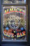 Window of a Bar in San Telmo, Buenos Aires Royalty Free Stock Photography