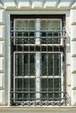 Window with bars. royalty free stock photography