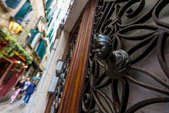 Window bars with moor head Stock Photography