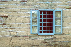 Window with bars on old house 2 Stock Image