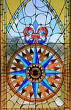 Window of Bartolomeu Dias Museum. The window of the Bartolomeu Dias Museum in Mossel Bay, South Africa. Bartolomeu Dias landing in Mossel Bay in 1488. The whole Stock Image