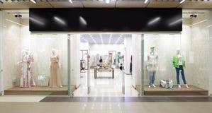 Window of beautiful european store Royalty Free Stock Photo