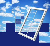 Window on beautiful sky Stock Photography