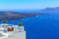 Window into beauty of Greece - Santorini Stock Photo