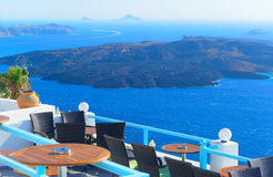 Window into beauty of Greece - Santorini Royalty Free Stock Image