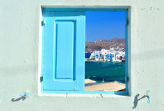 Window into beauty of Greece Royalty Free Stock Photo