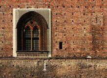 Castle window. Royalty Free Stock Images